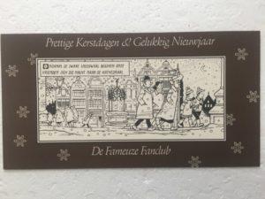 De Fameuze fanclub kaart donker bruin 2001
