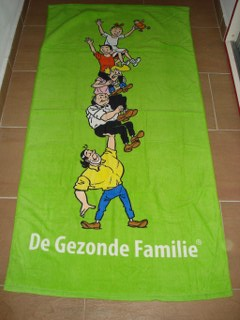 Badlaken Groen De Famillie