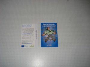 FM Spaarpunt Bord met bestek Blauw Jerom