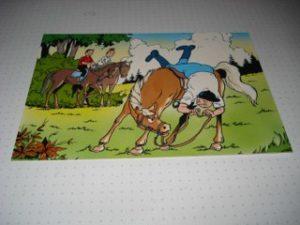 De Stulp Lambik valt van paard