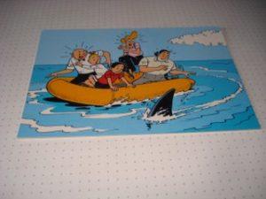 De Stulp Familie in rubberboot met haai