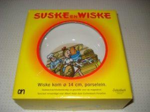 Schaaltje in doos AH Wiske bij Bakker_
