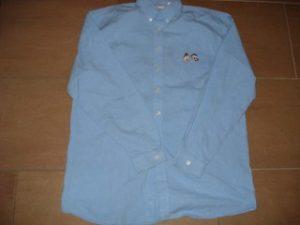 Overhemd Blauw 16 jaar Suske en Wiske hoofdjes