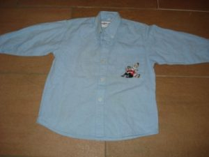 Overhemdje Blauw 4 jaar Suske en Wiske met vogels