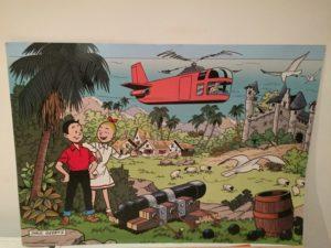 Poster S&W en Gyronef en een kanon Paul Geerts