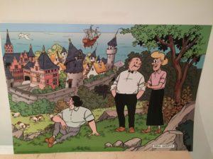 Poster Sidonia Lambik en Jerom bij burcht met kasteel Paul Geerts