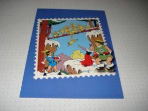 Kinderpostzegels Blauw Het bevroren vuur