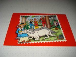 Kinderpostzegels Rood Sidonia en paard