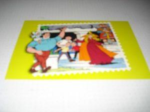 Kinderpostzegels Groen Jerom met elfje