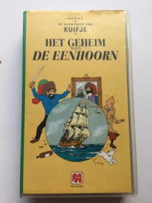 VHS Kuifje het geheim van de Eenhoorn