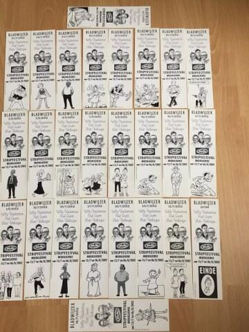 Bladwijzers 26 stuks Stripfestival Middelkerke 2002