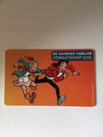 Fanclub lidmaatschapkaart 2018