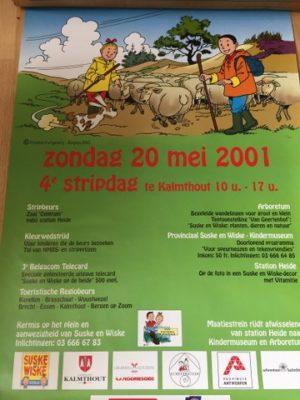 Poster 4 de stripdag Kalmthout 2001