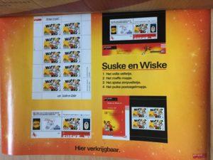 Poster S&W op postzegels PTT