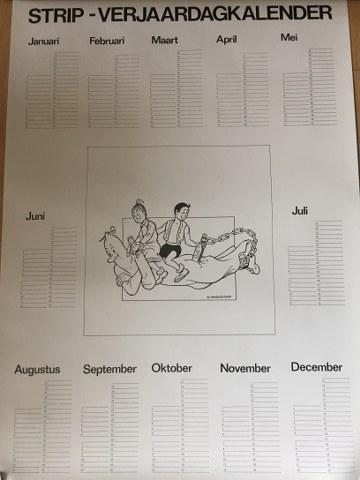 Poster Verjaardags kalender afm 60 x 40