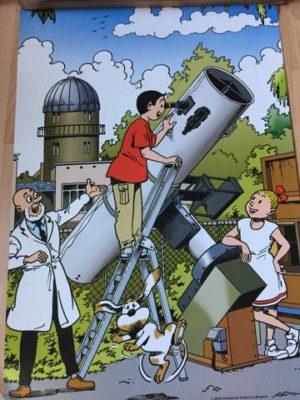 Poster met telescoop