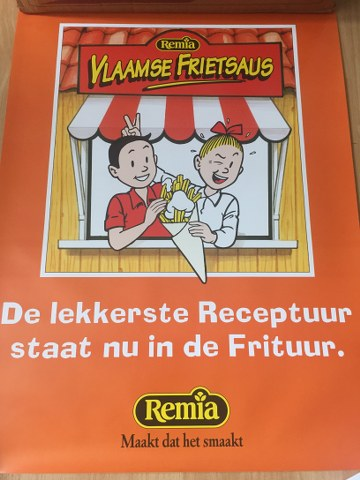 Poster Remia Vlaamse Frietsaus