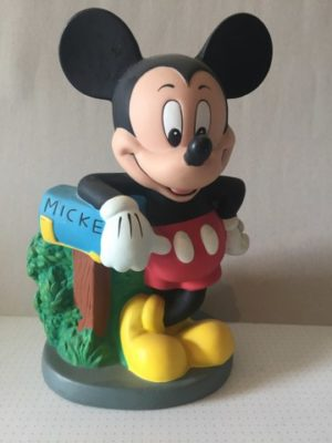 Mickey Mouse met brievenbus spaarpot