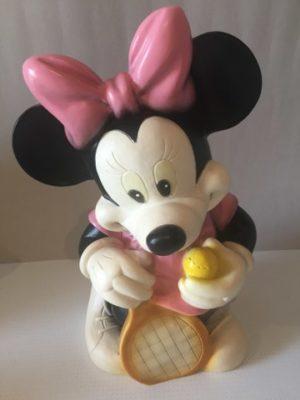 Minnie Mouse met tennis racket