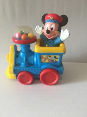 Mickey Mouse in Locomotief