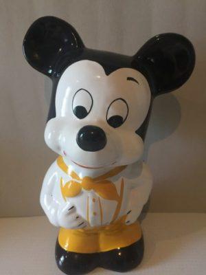 Mickey Mouse Geel Spaarpot porselein