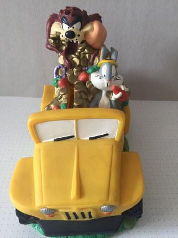 Bugs Bunny en Tasmanian Devil in auto