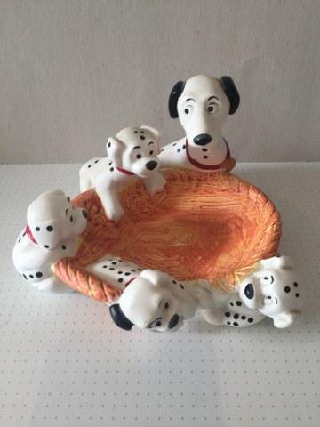Dalmatiërs 5 stuks rond hondenmand