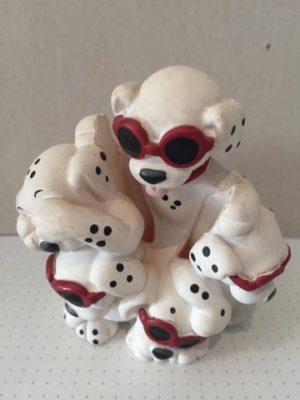 Dalmatiërs 5 stuks met zonnebril