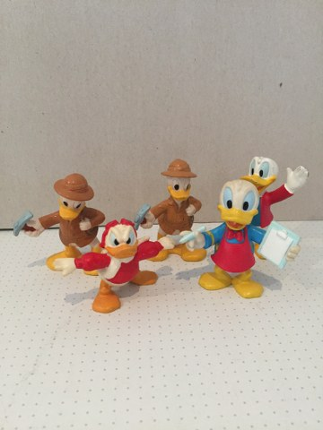 Donald Duck poppetjes 5 assortie