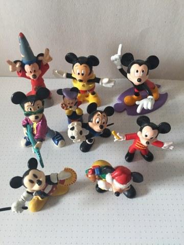 Mickey Mouse poppetjes 9 stuks assortie