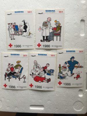 Stickers Sabena set a 5 stuks 1986