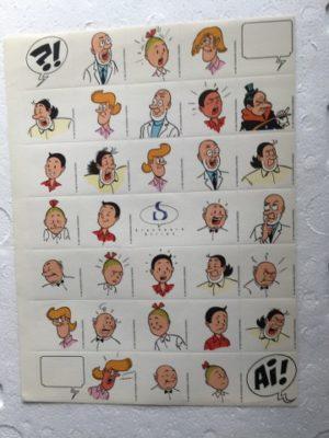 Stickervel 35 stuks 1997