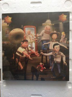 Canvas De familie in de Saloon