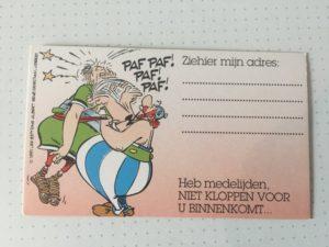 Kaartje Obelix Zie hier mijn adres