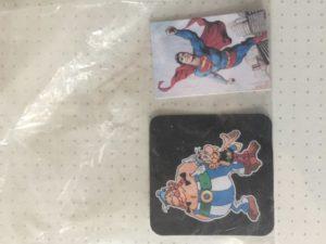 Mini kaartjes Astrid en Obelix en Battman