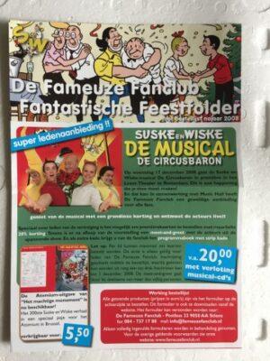 Info blad De Fameuze Fanclub Feestfolder