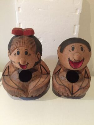 S&W hoofden van cocoshout