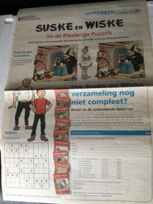 Krantenknipsel De plezierige puzzels