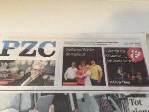 Krantenknipsel PZC S&W en de musical