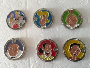 Winkelkar muntjes set van 6 stuks