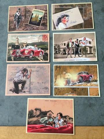 Set a 7 kaarten Amoras Krimson