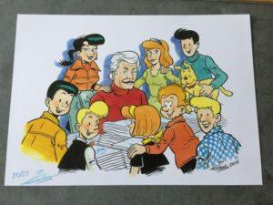 ex - libris Eric De Rop Vele stripfiguren bij elkaar