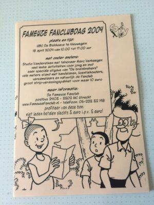 Folder Fameuze Fanclubdag 2004